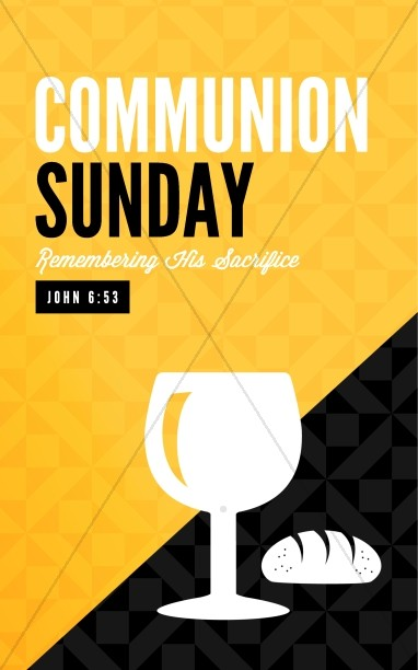 Communion Sunday Remember Ministry Bulletin
