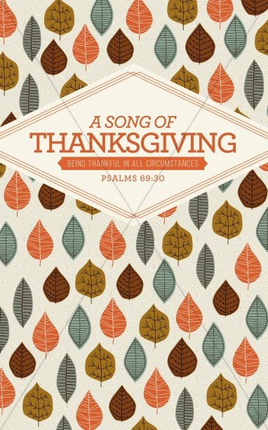 A Song of Thanksgiving Christian Bulletin