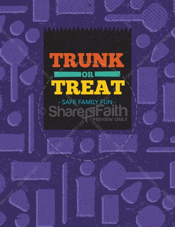 Trunk or Treat Fall Ministry Flyer