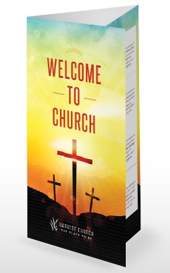 summer good news of the cross religious trifold bulletin tri fold