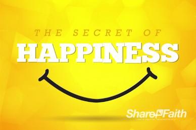 Secret of Happiness Religious Intro Video Loop