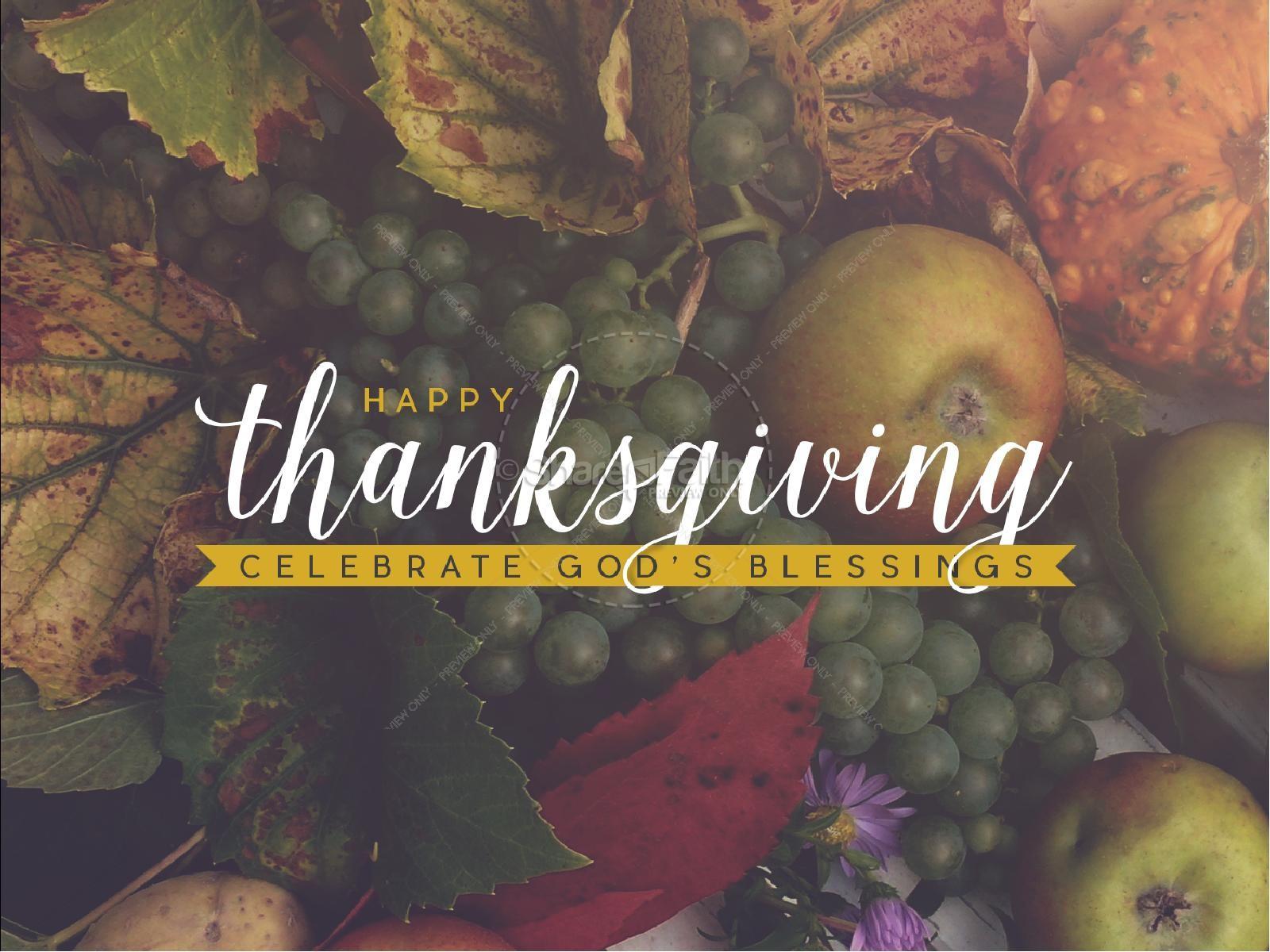 Thanksgiving Celebrate God's Blessing Religious PowerPoint | slide 1