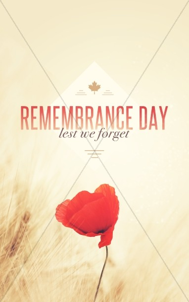 Remembrance Day Red Poppy Religious Bulletin