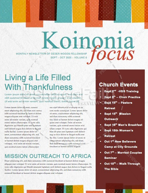 Sunday School is Starting Now Church Newsletter Template ...