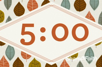 A Song of Thanksgiving Countdown Video Loop