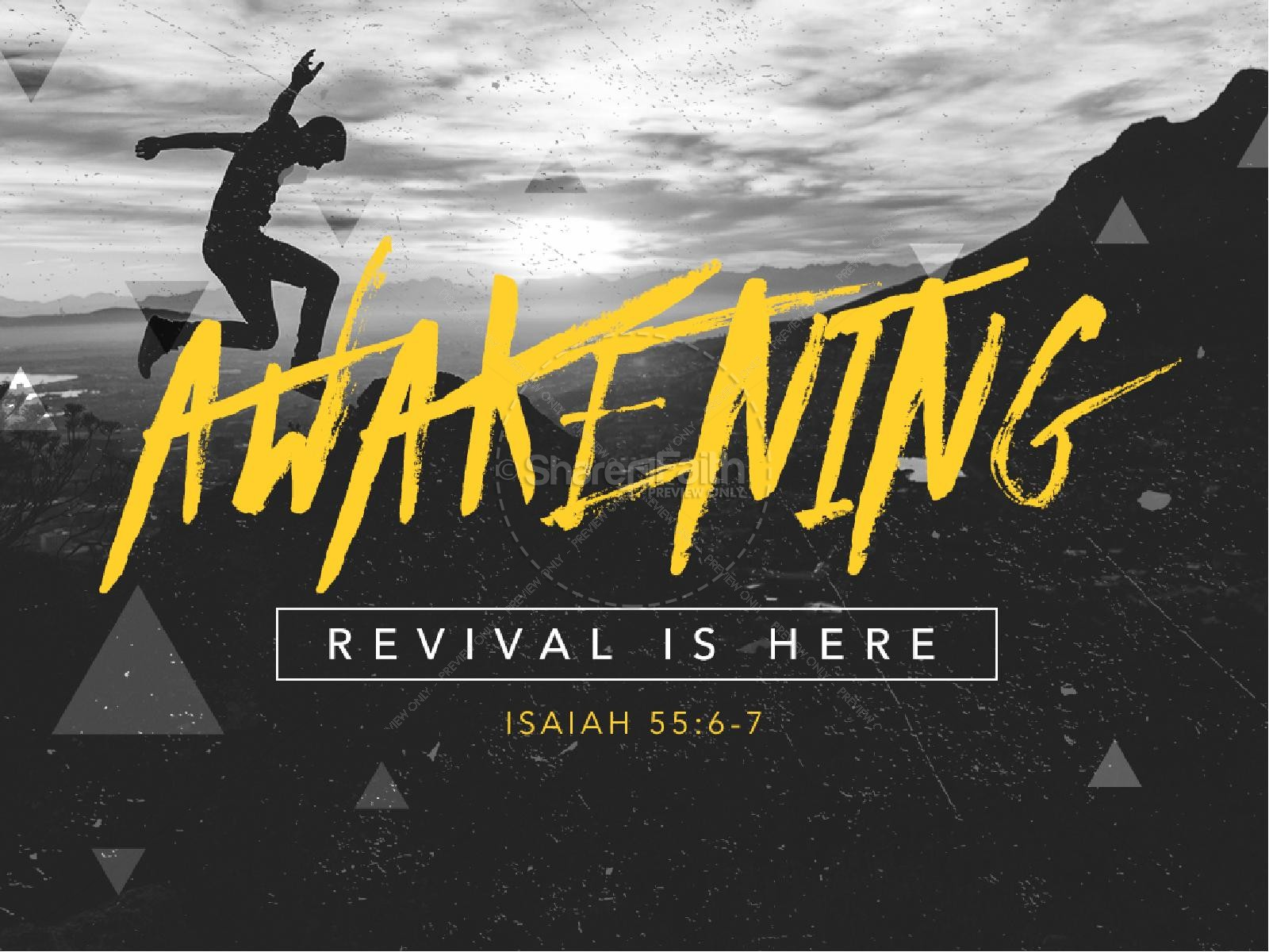 Awakening Revival Is Here Church PowerPoint