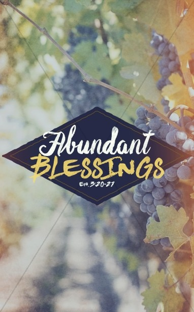 Abundant Blessings Religious Bulletin