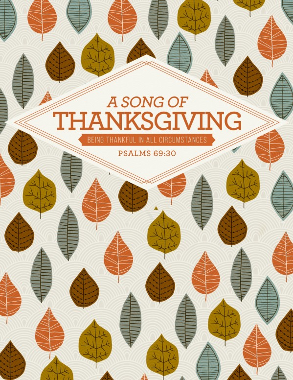 A Song of Thanksgiving Christian Flyer