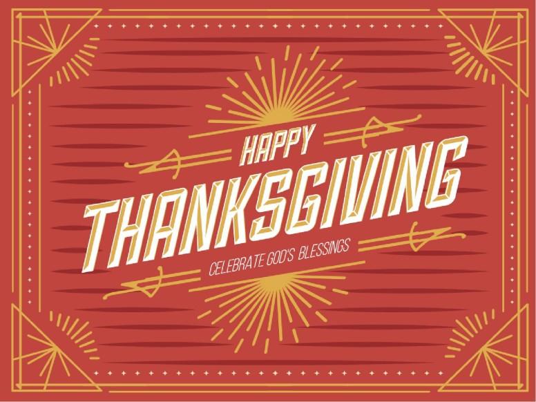 Bright Autumn Happy Thanksgiving Christian PowerPoint
