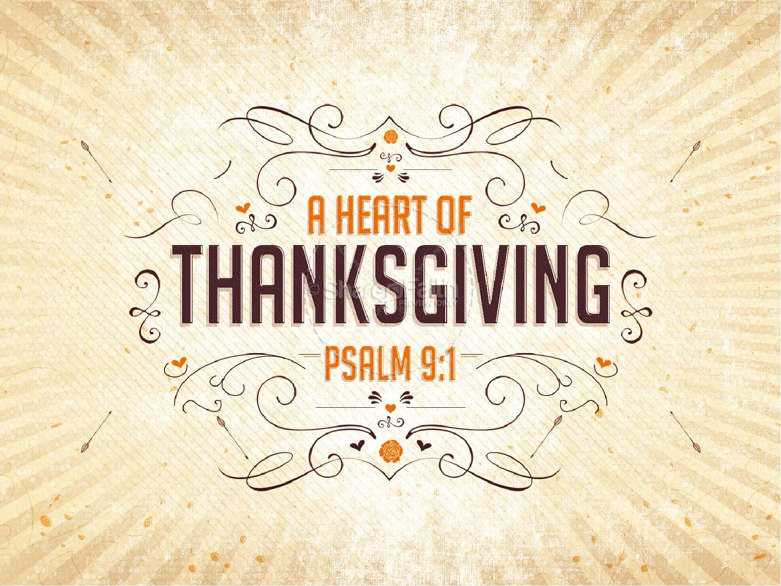 A Heart of Thanksgiving Ministry PowerPoint | slide 1