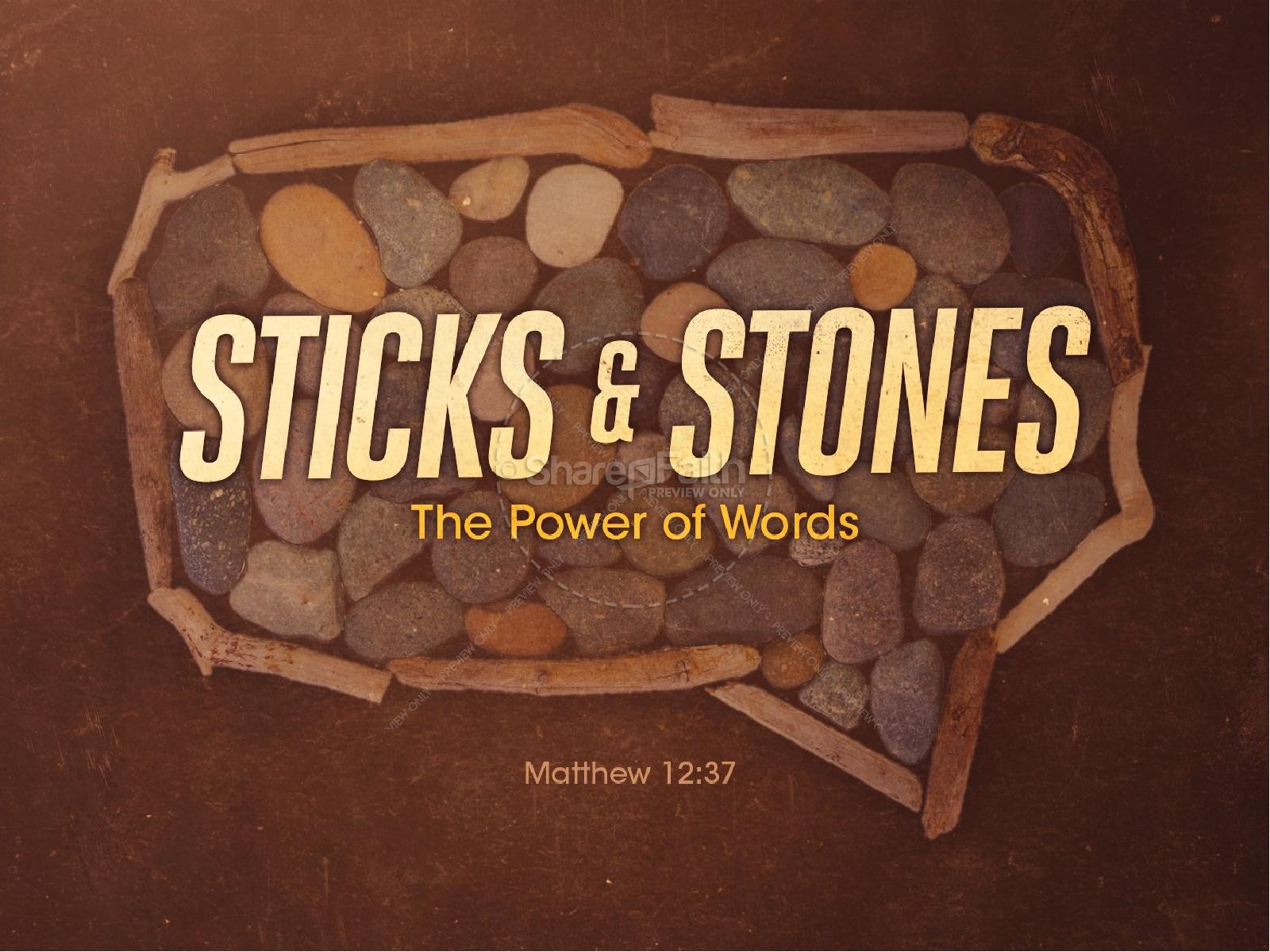 Sticks and Stones Religious PowerPoint