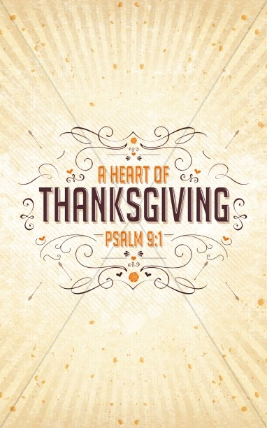 A Heart of Thanksgiving Ministry Bulletin