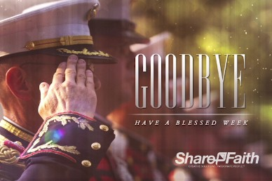 Veteran's Day Salute Religious Goodbye Video Loop