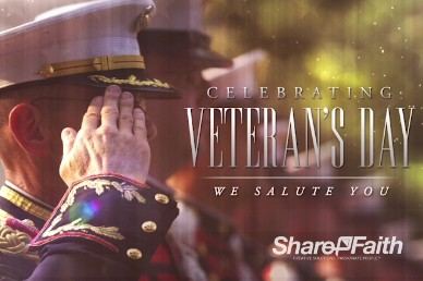 Veteran's Day Salute Religious Inro Video Loop