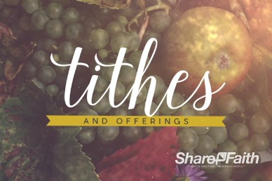 Happy Thanksgiving Fruit Bounty Religious Tithes and Offering Video Loop