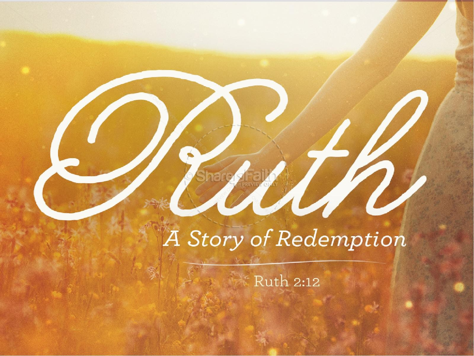 Ruth The Story of Redemption Sermon Powerpoint