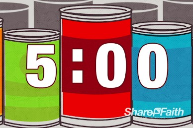 Thanksgiving Food Drive Religious Five Minute Countdwon Timer