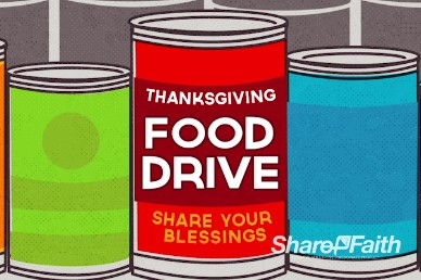Thanksgiving Food Drive Religious Title Video