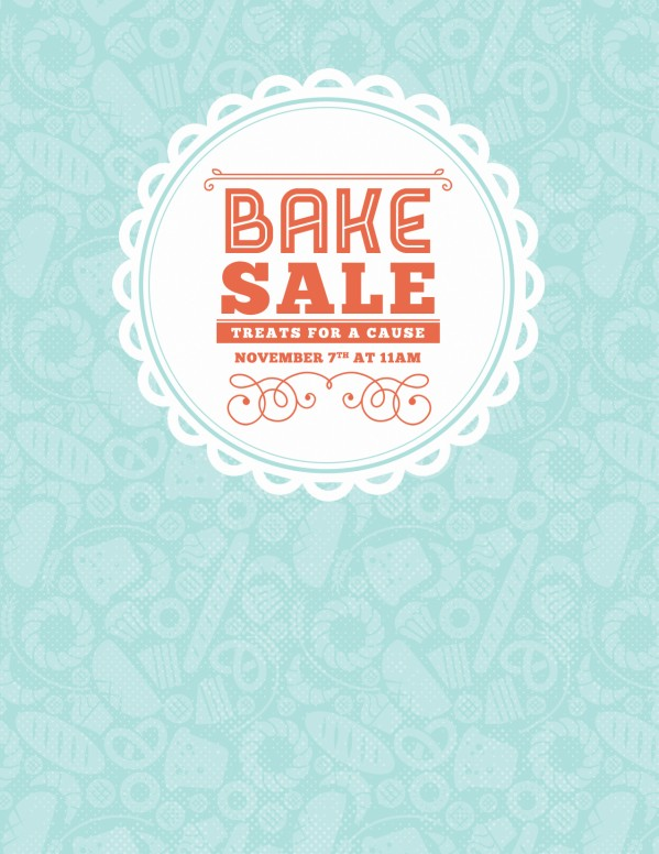 Bake Sale Church Flyer