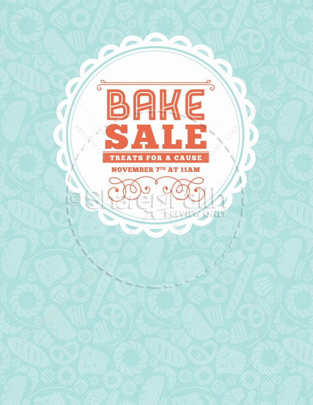 Bake Sale Church Flyer Template  Flyer Templates