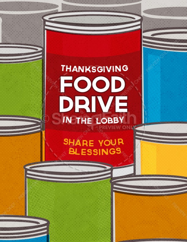 Thanksgiving Food Drive Religious Flyer  Can Food Drive Flyer Template