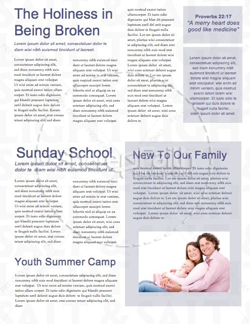 Salt and Light Religious Newsletter