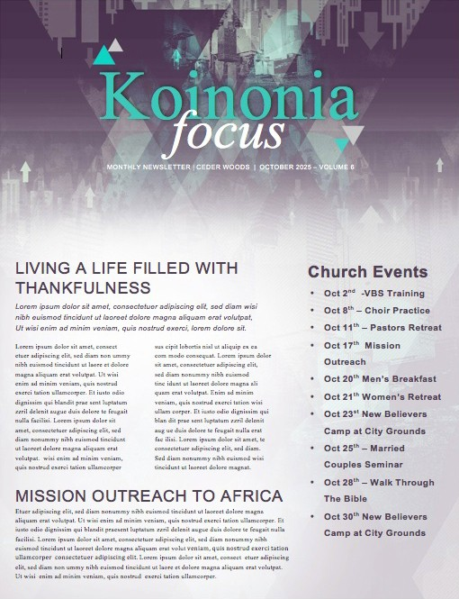 Upside Down Ministry Newsletter
