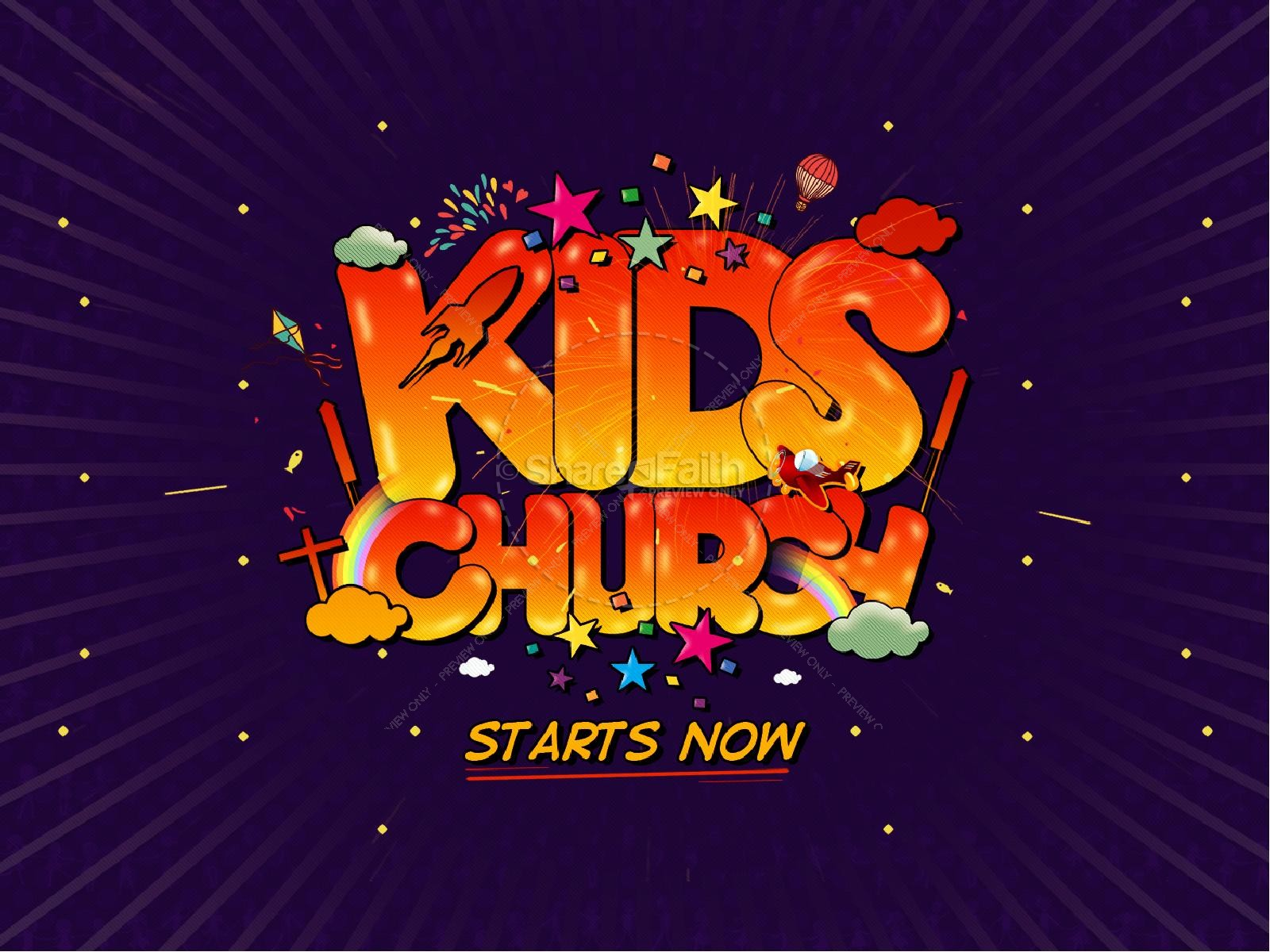 Kids Church Starts Now Ministry PowerPoint