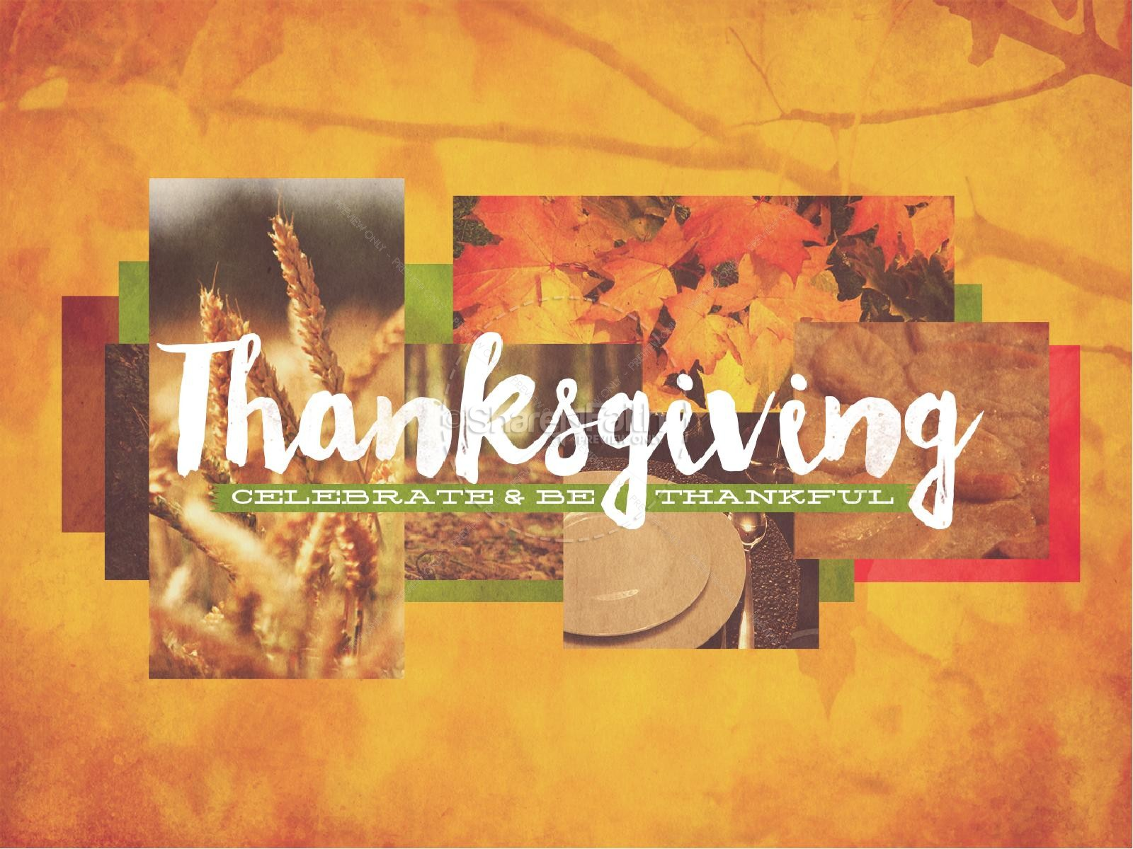 Thanksgiving Fall Christian PowerPoint