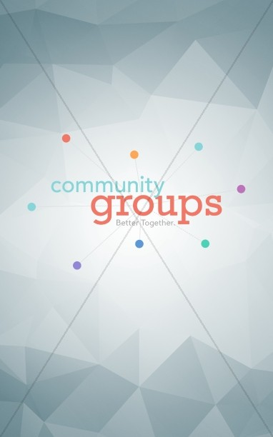 Community Groups Ministry Bulletin