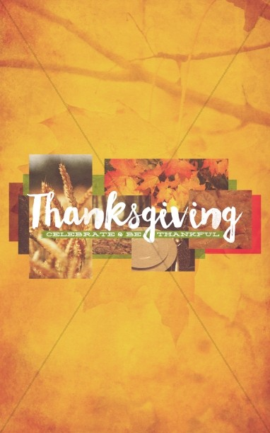 Thanksgiving Fall Christian Bulletin
