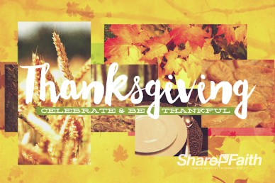 Thanksgiving Fall Christian Title Background Video Loop