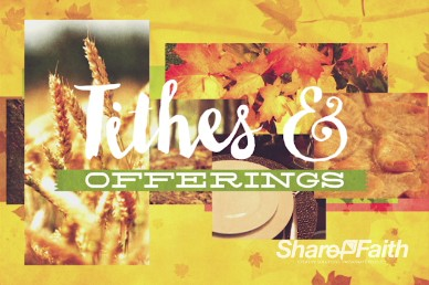 Thanksgiving Fall Christian Tithes and Offerings Video Loop