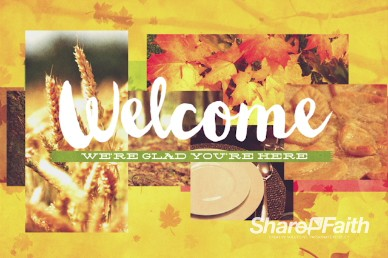 Thanksgiving Fall Christian Welcome Video