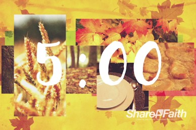 Thanksgiving Fall Church Five Minute Countdown Timer