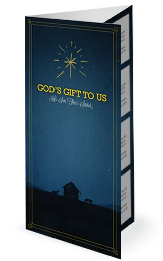 God's Gift to Us Christmas Trifold Ministry Bulletin