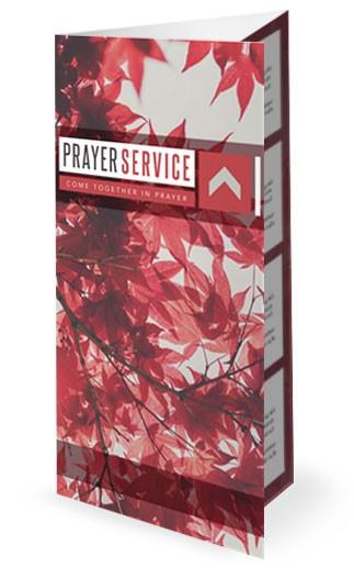 Prayer Service Ministry Trifold Bulletin