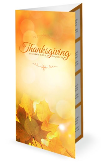 Thanksgiving Celebrate God's Goodness Religious Trifold Bulletin