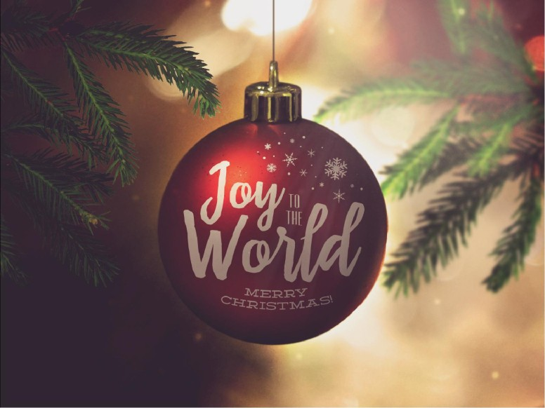 Joy to the World Christmas PowerPoint  Template