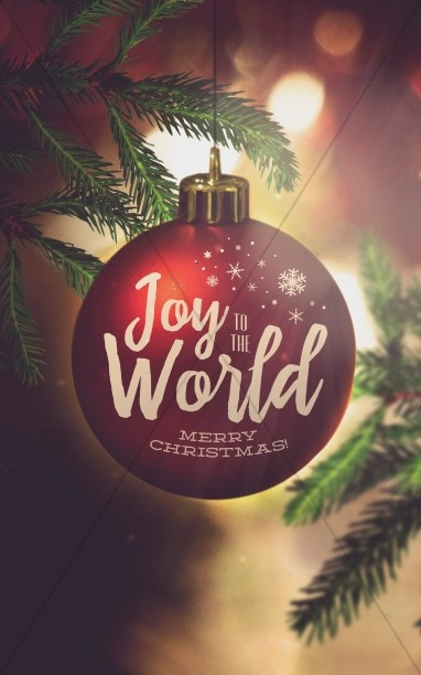 Joy to the World Christmas Church Bulletin