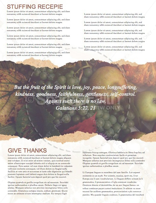Thanksgiving Celebrate God's Blessing Newsletter