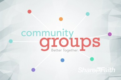 Community Groups Ministry Title Video