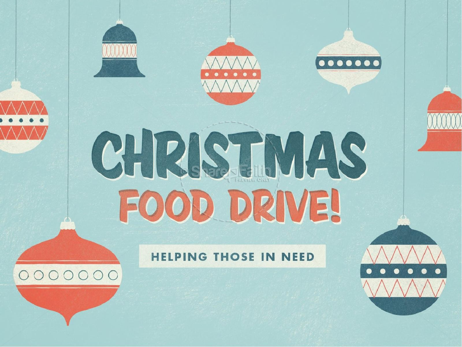 Christmas Food Drive Ministry PowerPoint  Can Food Drive Flyer Template