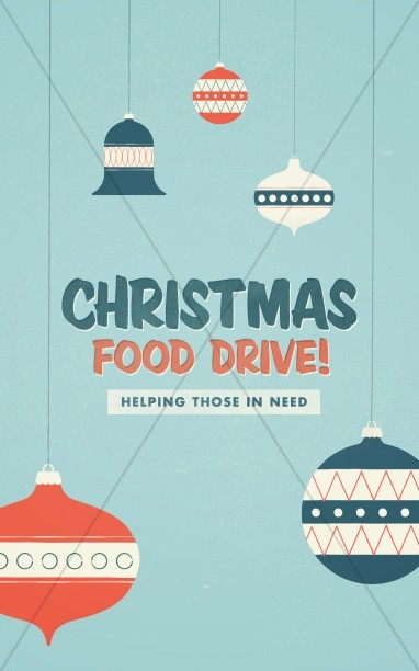 Christmas Food Drive Ministry Bulletin