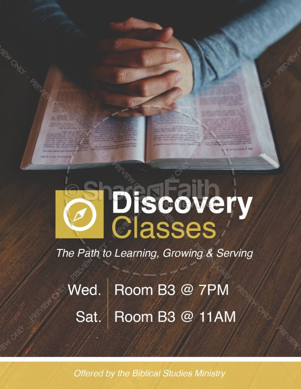 Discovery Classes Ministry Flyer