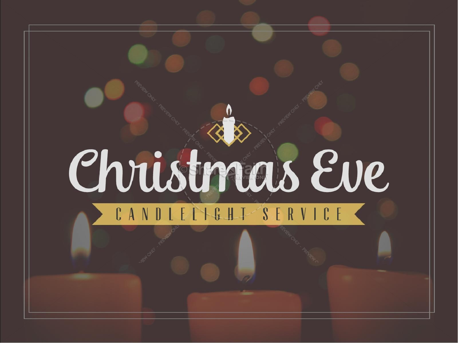 Christmas eve worship service ideas - Christmas Eve Candlelight Service Ministry Powerpoint