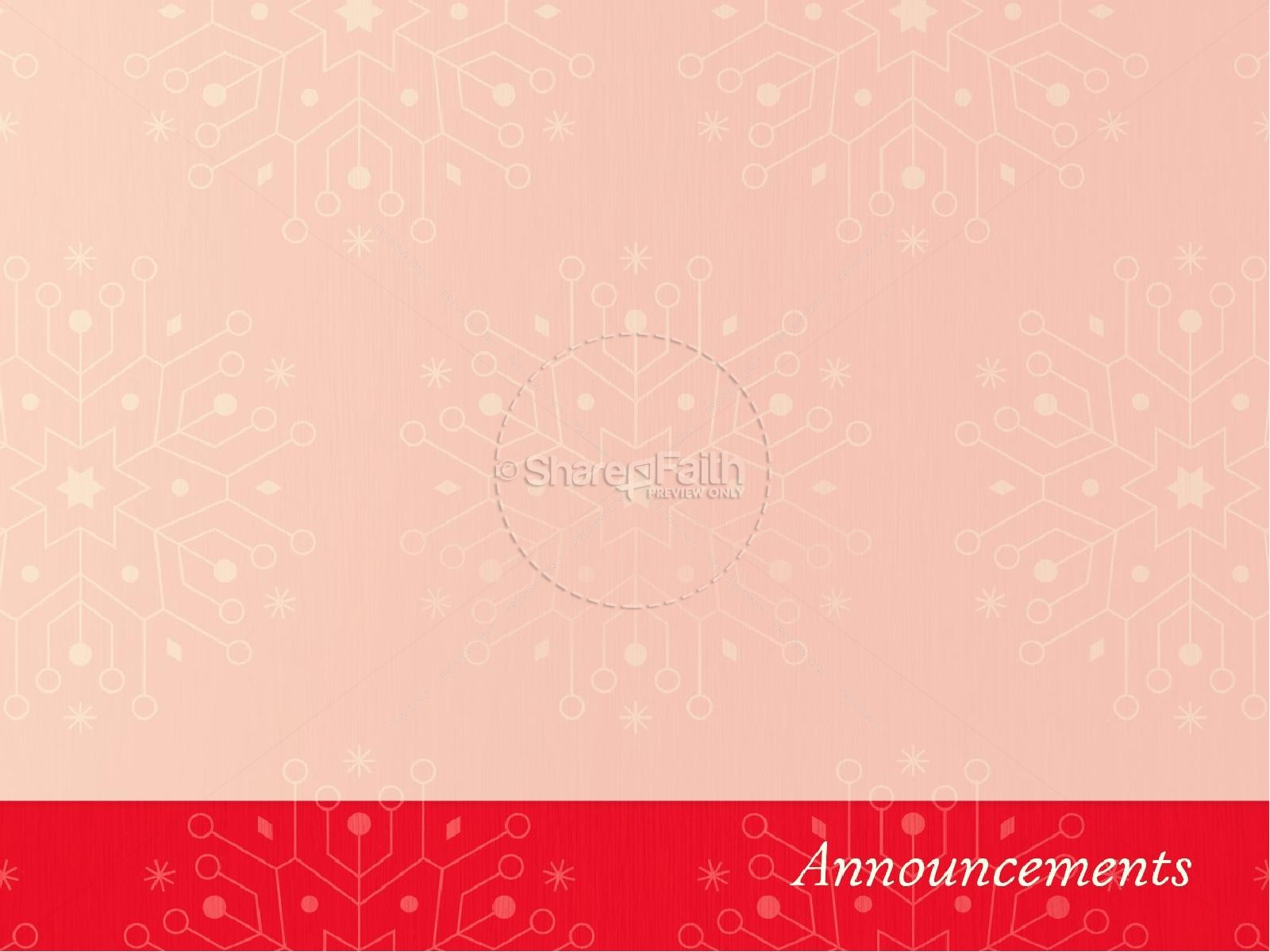 Snowflake Christmas Invitation Ministry PowerPoint
