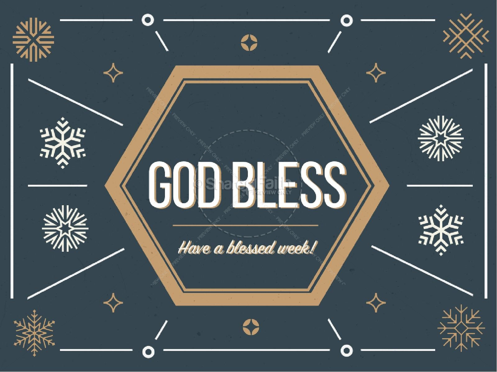 Merry Christmas Classic Greeting Religious PowerPoint