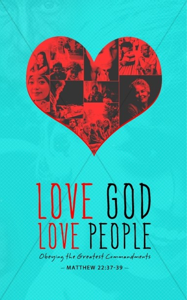 Love God Love People Christian Bulletin