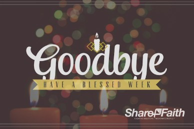 Christmas Eve Candlelight Service Ministry Goodbye Video Loop